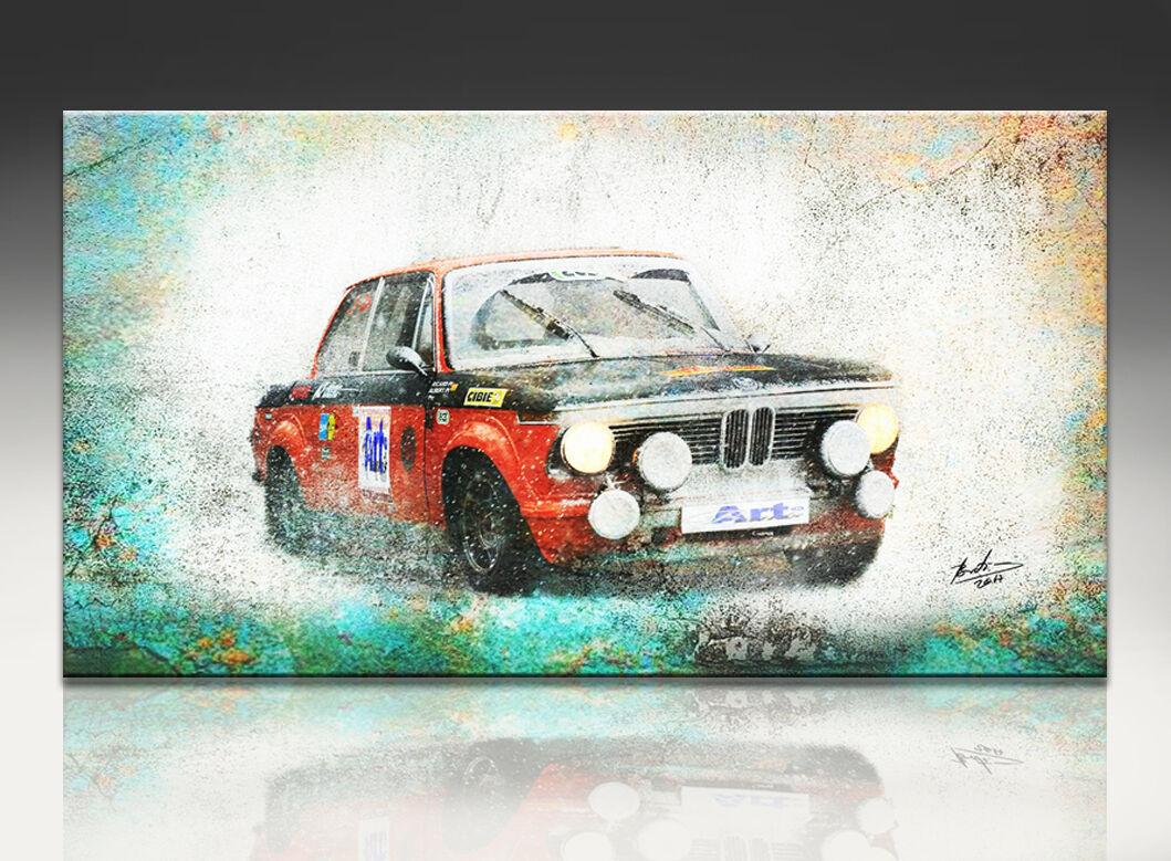 BMW Oldtimer 2002 Voiture Oldtimer BMW voiture de course DECO Images toile la fresque Abstrait 188 a 26c7d7
