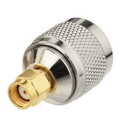 2X Adapter RP-TNC Jack Male to RP-SMA Plug Female RF Connector Straight M//F Ships from USA