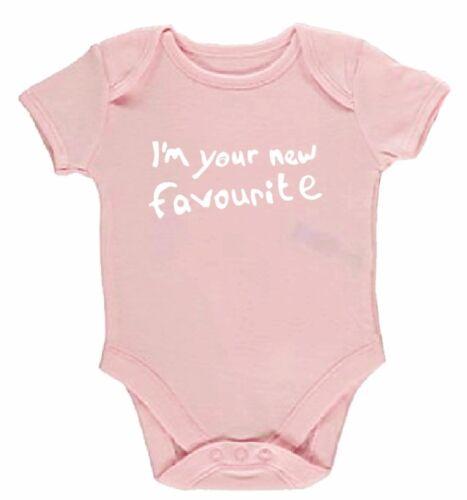 Je suis votre Nouveau Favori Funny Silly Baby Grow Ange Corps Costume cadeau unisexe enfant