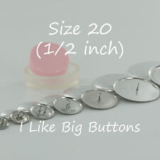 """10 WIRE BACK Cover/Covered Buttons Kit Size 20 (1/2""""/12mm) Fabric SELF COVER"""