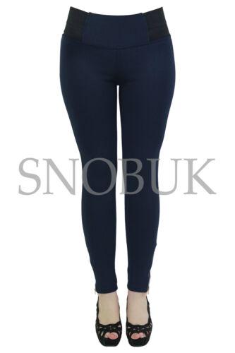 Women/'s vita alta Slim Fit Jeggings Donna Jeans Legging Pants 8 10 12 14 16