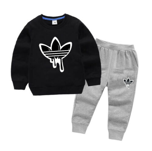 Boys Girls Tracksuit Kids O Neck Jacket Sport Pants Trousers Children Sets