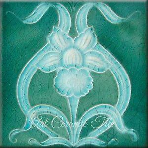 Art Nouveau Reproduction Ceramic Tile Ooooo1 Ebay