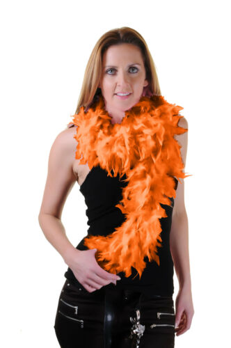 FEATHER BOA HEN NIGHT PARTY ACCESSORY GATSBY 20S FANCY DRESS FLUFFY BURLESQUE