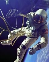 8x10 Nasa Photo: Astronaut Ed White On First Spacewalk, Gemini 4 Mission