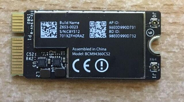 """Apple Wifi AC/ BlueT Karte für MacBook Air 11"""", 13"""" BCM94360CS2 2013, 2014, 2015"""