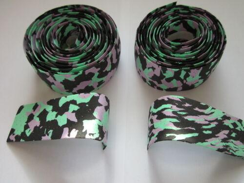 BLACK GREEN PURPLE NO END PLUG NOS 3T 3TTT CORK HANDLEBAR TAPES