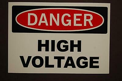 3.5X5.5 IN HIGH QUALITY VINYL DANGER HIGH VOLTAGE 10 STICKERS