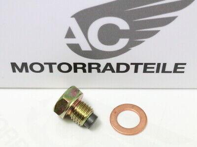 M12 x 1.5 Aluminum Alloy Magnetic Engine Oil Pan Drain Bolt Screw for Car CA