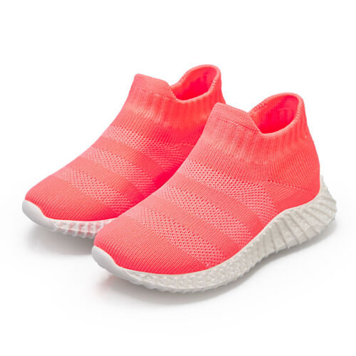 Kids Breathable Knit Sneakers Walking Shoes Boys Casual Slip-on Athletic Running