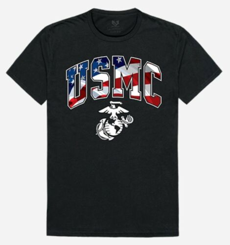 Eag Schnelle Thsirt Letters Flagge groß Us T L Schwarz Usmc Shirt Dominanz Marines r60wq8rx