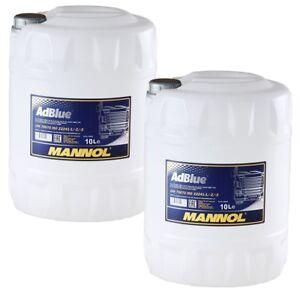 20 (2x10) Liter MANNOL AdBlue® Zusatz zur Abgasreinigung für PKW und LKW