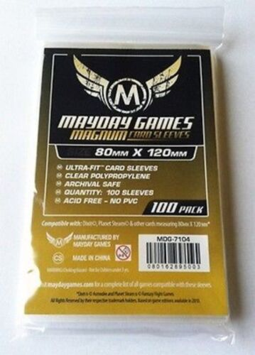 100 Bustine Protettive Giochi da Tavolo MAYDAY 80x120 mm MAGNUM Buste DIXIT
