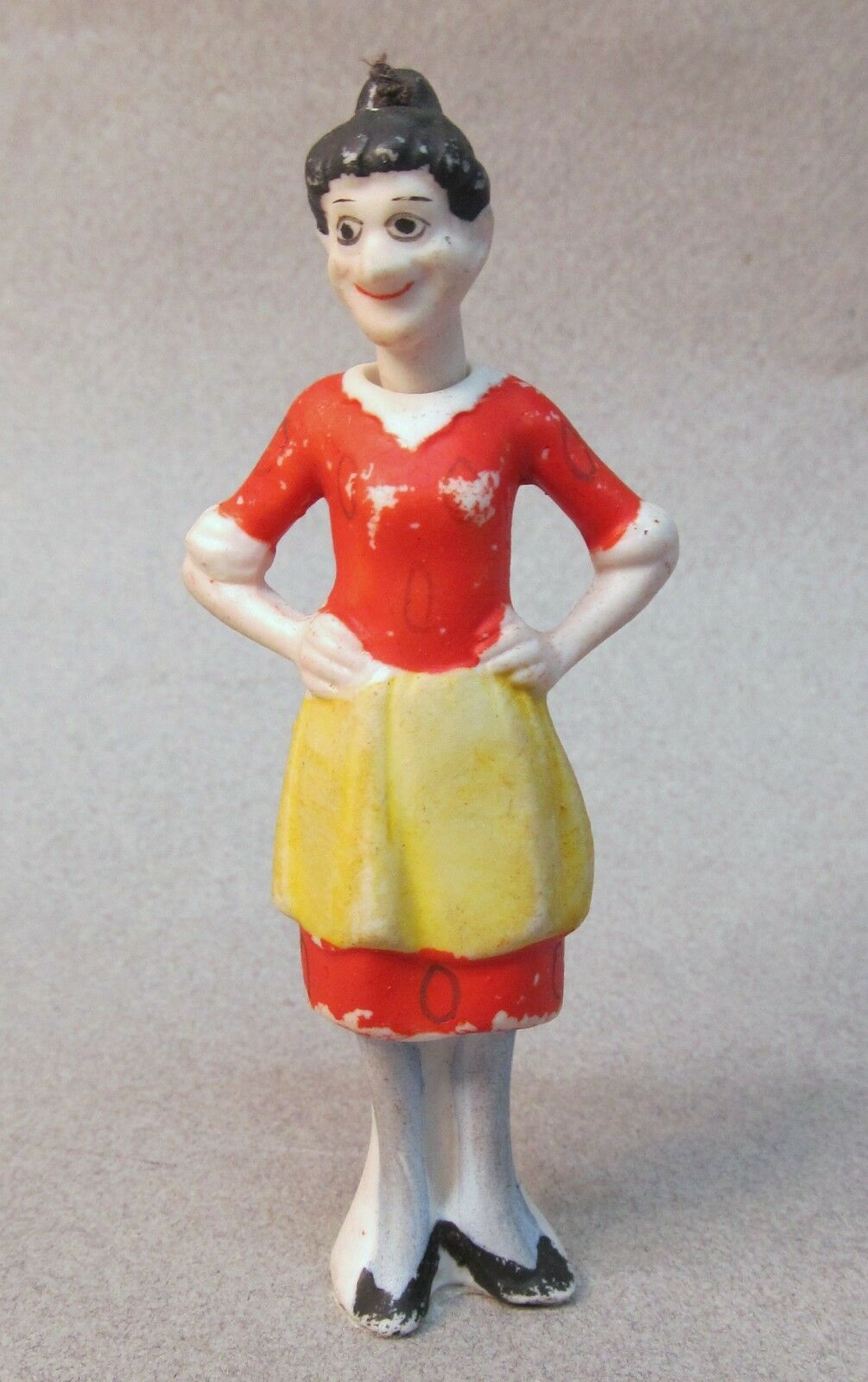 EMMY 1930's Moon Mullins comic strip character German nodder bisque figure 3.75