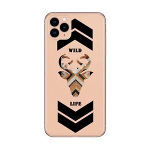 Coque Iphone 12 PRO MAX wild life renne bois