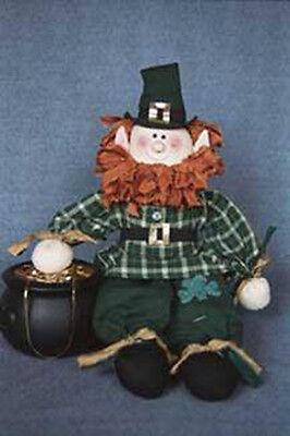 "24/"" Leprechaun original cloth doll pattern #375  by Bonnie B Buttons"
