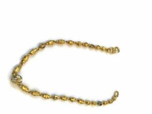 Vintage-Dubai-Fait-Main-Lien-Tennis-Bracelet-En-Solide-916-Embouti-22K-Or-jaune