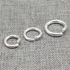 WHOLESALE LOTS 4mm OPEN JUMP RINGS thin 0.6mm 23 gauge Sterling Silver 925