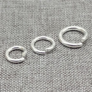 925-Sterling-Silver-Open-Jump-Rings-Diameter-7mm-8mm-10mm-Thick-1-5mm-1-2mm