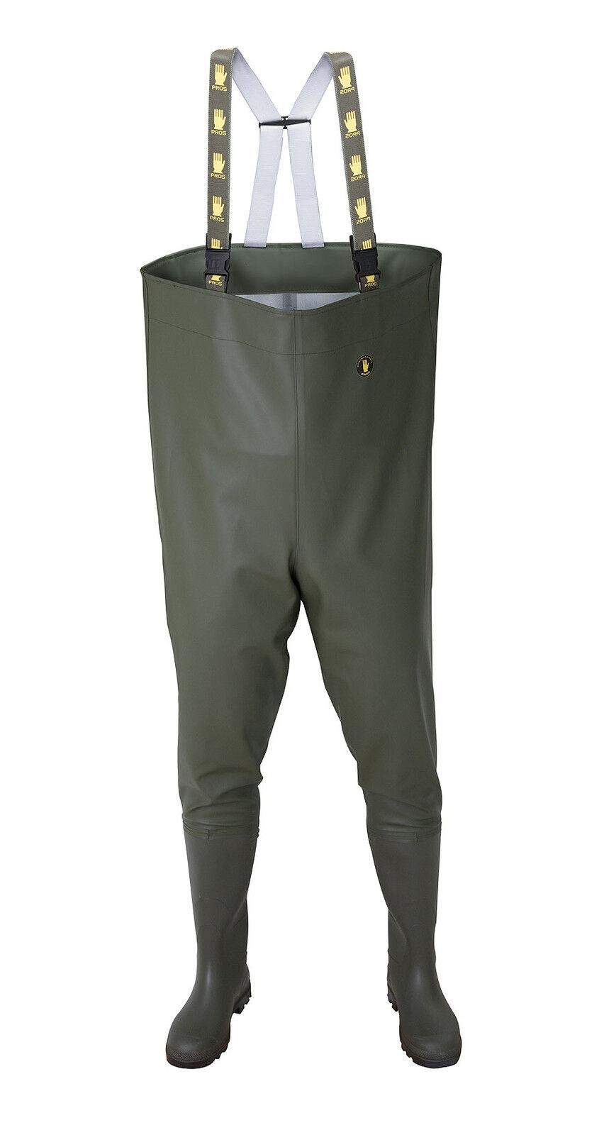 Vadeador,  verde pecho  pescadores Vadeadores botas Pantalones de pesca