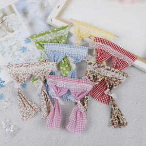 Dollhouse-Miniature-Lace-Pink-Curtain-For-1-12-Scale-Dollhouse-Furniture-Decor