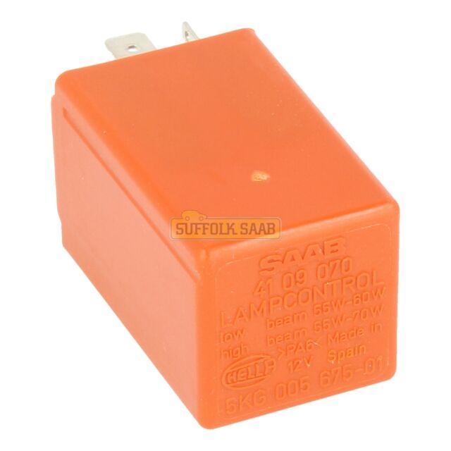 110-Saab 9-5 9-3 900 Headlight Lamp Control Orange Relay 4109070 5GK005675-01