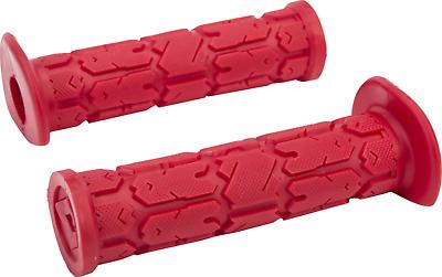 NEW ODI Ruffian lock grips Yamaha YFZ450 YFZ450R YFZ450X RED with black clamps