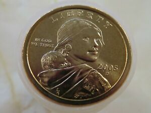 2005-D-BU-Uncirculated-roll-of-25-Sacagawea-Dollars