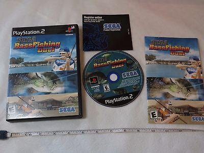 Sega Bass Fishing Duel (Sony PlayStation 2, 2002) PS2 fish game everyone NTSC