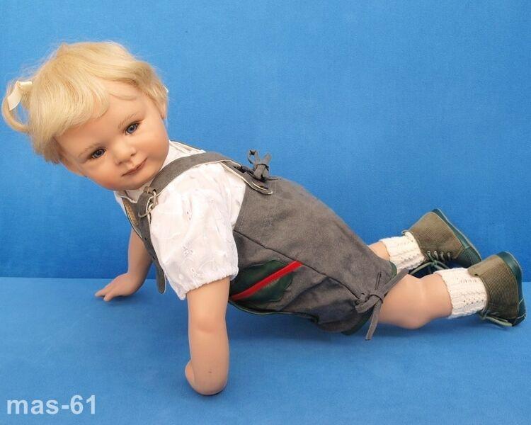 Susan lippl muñeca artistas muñeca Lederhose limitado 65 cm Doll poupee 2005
