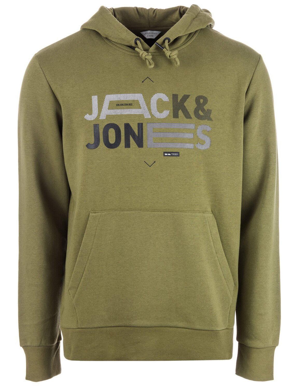 Jack & & Jones Homme Frais Généraux à Capuche & Jack Col ras du cou en coton imprimé Sweat 7daa5c