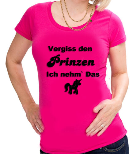 SPRÜCHESHIRT Prinzen Einhorn Damen  Lady Girly SHIRT T-SHIRT  S-2XL NEU