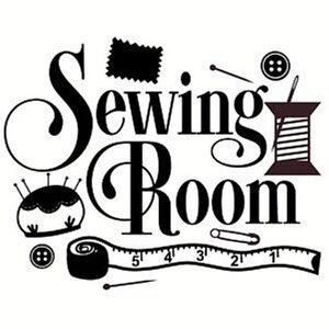Sewing Room Vinyl Design Wall Art Sticker Decal Home Decor Door