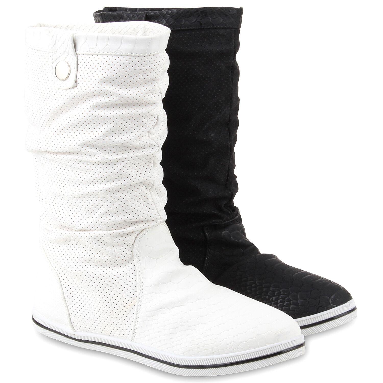 Warm Gefütterte Damen Schlupfstiefel Schnallen Stiefel 890427 Zierknöpfe  Schuhe