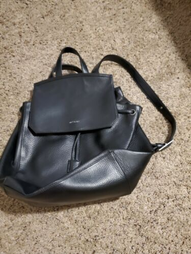 Matt And Nat Black Backpack Used 2 Times