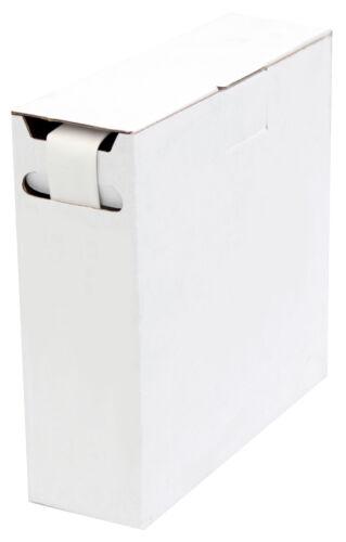 D=9,5mm//d=4,8mm Länge 8m Weiß in praktischer Spender Box Schrumpfschlauch 2:1