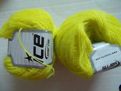 lot of 2 #39 dusty purple 455 yds ea Wisful mohair//wool blend yarn