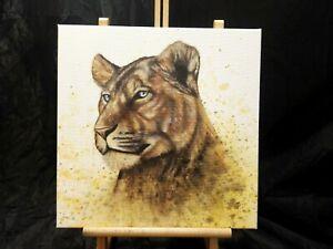 Peinture, tableau surréaliste, huile sur toile format 40/40 cm année 2021