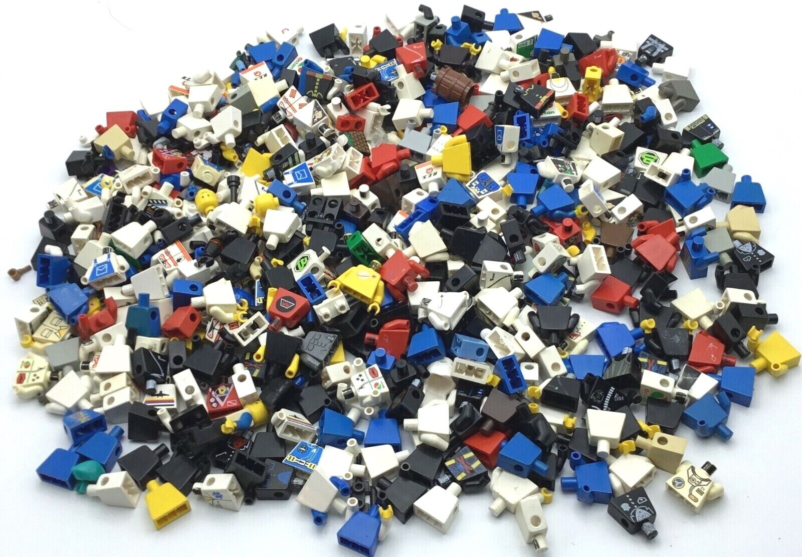 LEGO HUGE 1 POUND LOT OF TORSO PIECES BODY PARTS BULK SPACE TOWN PEOPLE CHESTS