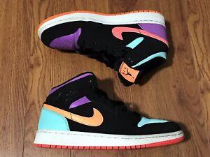 Details about 2019 Nike Air Jordan 1 Mid Multi-Color (GS) Basketball Shoes 554725-083 Sz 6.5Y