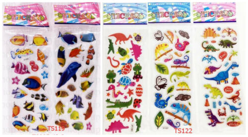 Dibujos Animados 3D estereoscópico PVC Pegatina de peces hinchados niños regalo lot of 5 Hoja Regalo Caliente