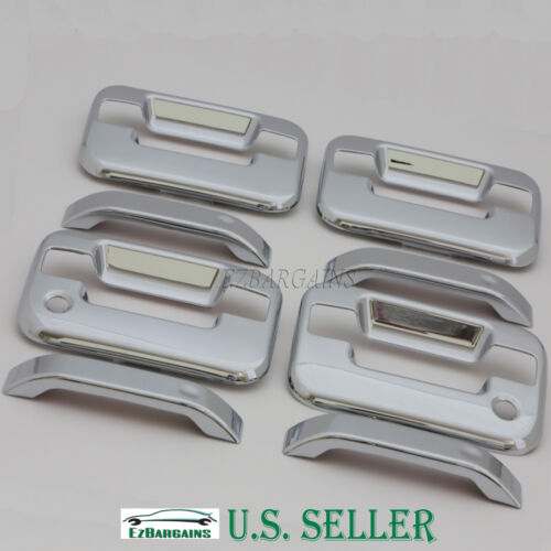 Chrome Door Handle Cover w//2keyhole for 4dr 04-14 Ford F150//05-08 Lincoln MarkLT