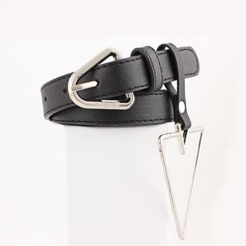 Fashion Women PU Leather Punk Harajuku Belt Exaggerated Big Metal Ring Hoop Belt