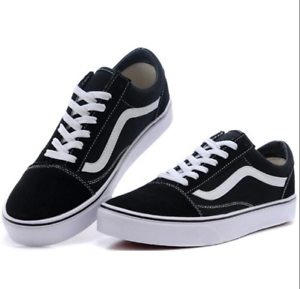 b06ac23aec5c Details about New Van s Old Skool Skate Shoes Classic Canvas Sneakers All  Sizes