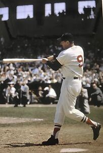 Details About 4 X 6 Color Photo Ted Williams The Swing Red Sox Baseball Bonus Photo