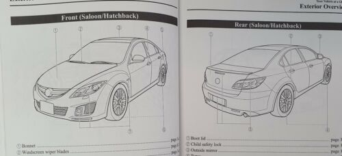 GENUINE MAZDA 6 HANDBOOK OWNERS MANUAL WALLET 2007-2010 PACK O-540
