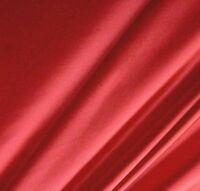"Shiny Cherry RED Nylon Lycra 4 Way Stretch Dance Fabric Material 60"""