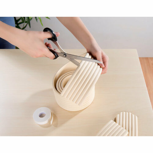 zuschneidbar infactory Universal-Schaumstoff-Kantenschutz beige 8 cm x 2 m