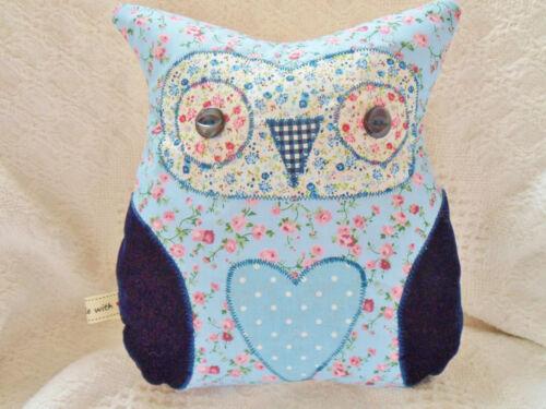 Owl Cushion Kit Patchwork Sewing Craft Kit Beautiful Ditsy Fabrics GREAT GIFT!!