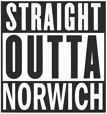 Car Straight Outta Norwich All Colours Bike Stickers Wall van Decal